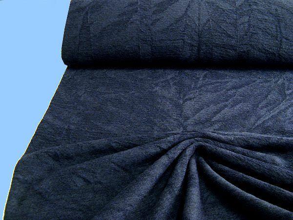 Strick meliert - nachtblau