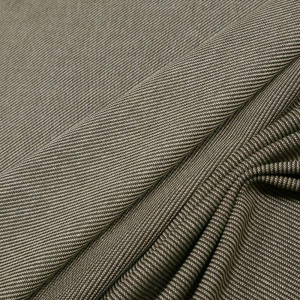 Wollstoff-Mix diagonal Streifen - dunkelbraun/beige