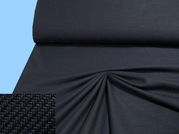 Wollstoff (Mischung) - schwarz/nachtblau,