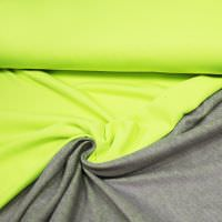 Sweatshirt Stoff neon - neon gelb/grau