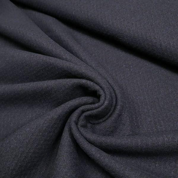 Wollstoff-Mix mit Struktur&Melange - nachtblau
