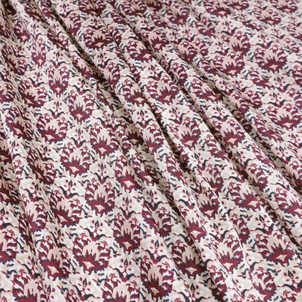 """Satin """"Orientalisches Motiv"""" - wollweiss/beige/rosé/weinrot/schwarz"""