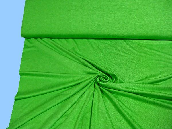 Feinjersey uni - grün