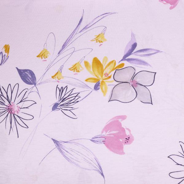 Baumwolle-Modal Jersey zarte Blumen - rosé/altrosa/gelb/flieder