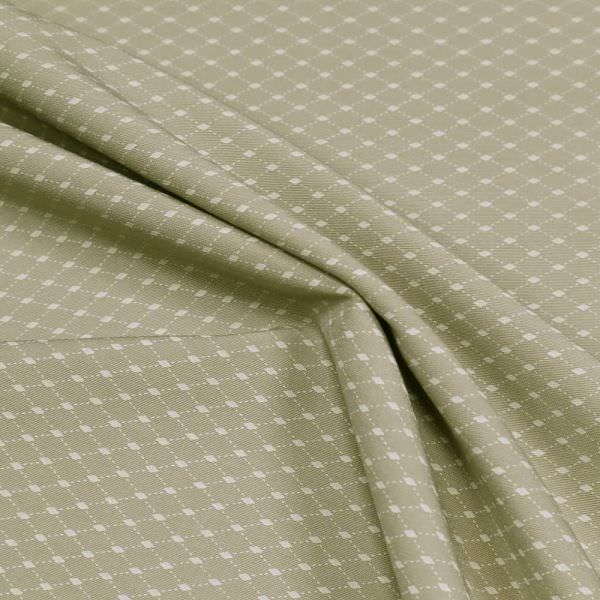 Stretch Baumwollstoff Raute - beige/wollweiss