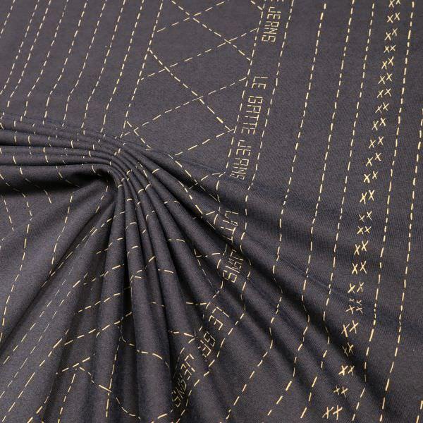 Lycra Jersey Linien PANEL - anthrazit/beige