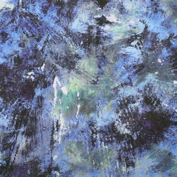 Viskose Crêpe Georgette mit Fantasie-Motiv - blau/dunkelblau/mintgrün/grau