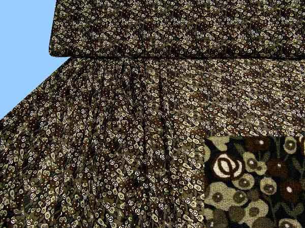 Blusengeorgette - schwarz/beige/taupe/braun/wollweiss
