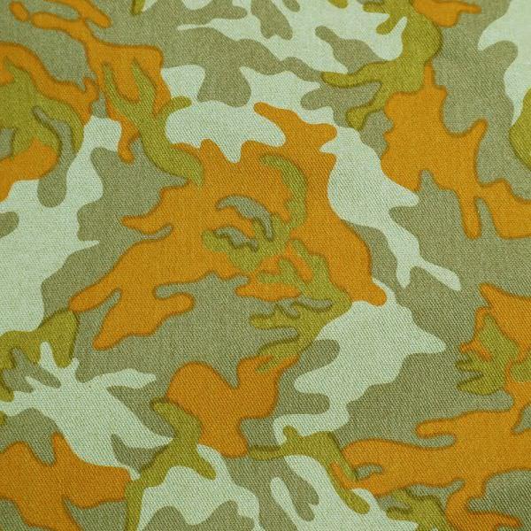 """Baumwollköper """"Camouflage"""" - schilfgrün/orange/hellbraun/ocker"""