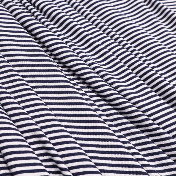 Jersey mit Querstreifen - marineblau/weiss