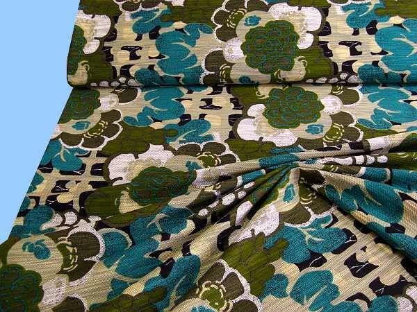 Baumwollmischung - beige/grün/khaki