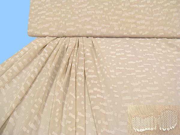 Chiffon mit eingewebtem Muster - beige