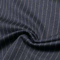 Punto Milano  Power-Stretch Jersey Nadelstreifen - nachtblau/beige
