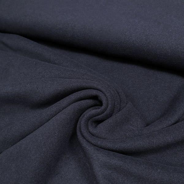 Mantelvelour uni - nachtblau