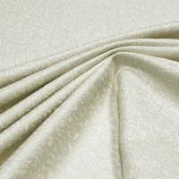 Dekostoff Jacquard Lurex & Ornamente - creme/silber Öko-Tex Standard 100 (2.Wahl)