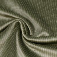 Baumwollsamt feine Streifen - schilfgrün