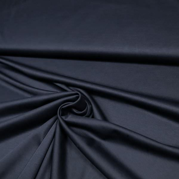 Mercerisierter Baumwolljersey uni - nachtblau