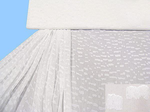Chiffon eingewebtem Muster uni - weiss