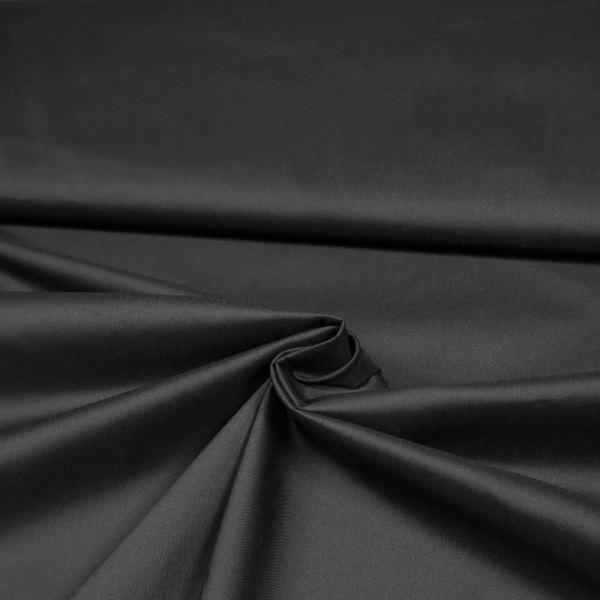 Stretch Baumwoll- Popeline uni - schwarz