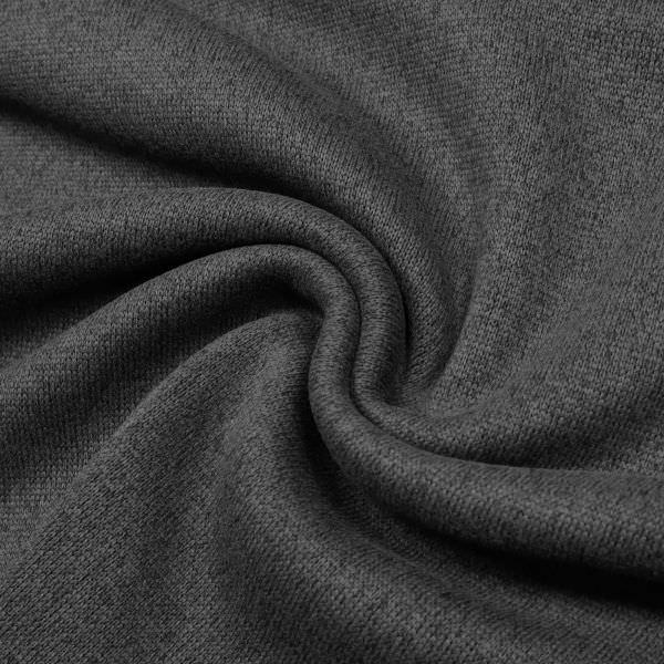 Strickstoff Strickfleece Melange - anthrazit