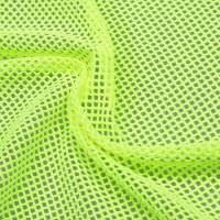 Stretch Netzstoff uni - neon gelb