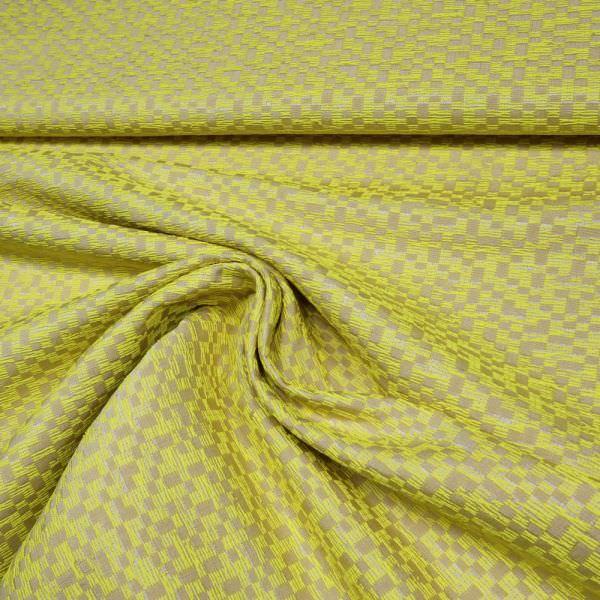 Dekostoff gemustert - beige/gelb (2.Wahl)