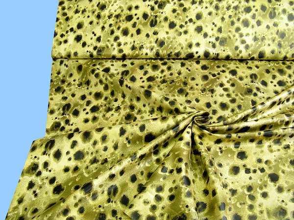 Jackenstoff - hellgelb/olivgrün/schwarz