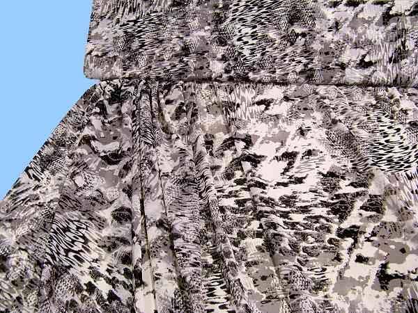 Chiffon - taupe/wollweiss/schwarz