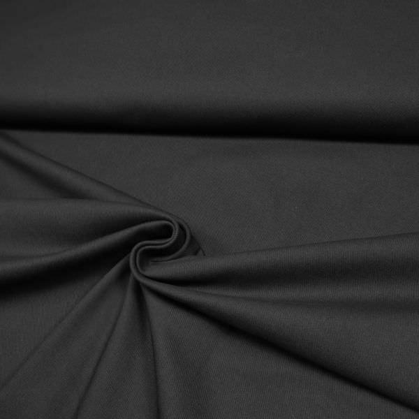 Stretch Baumwoll- Twill uni - schwarz