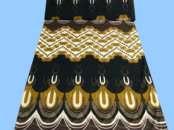 Feinjersey mit großem Muster - wollweiss/khaki/braun/schwarz