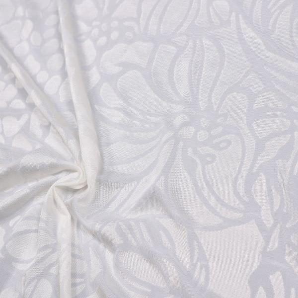 Ausbrenner Jersey mit Blumen-Motiv - wollweiss