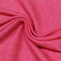 Baumwoll- Feinstrick Sweatshirt Stoff Melange - himbeere/wollweiss Extra breit !