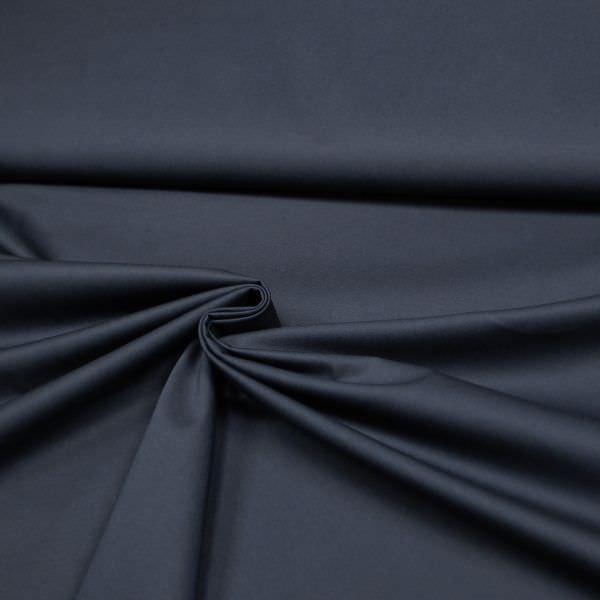 Stretch Baumwollstoff uni - marineblau