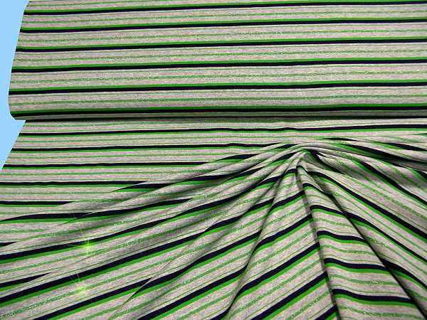 Feinjersey mit feinen Lurexfäden - grau/grün/nachtblau/silber