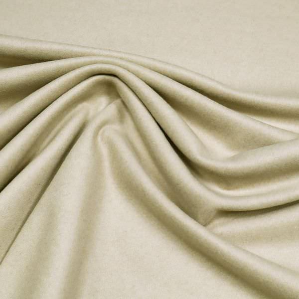 Mantelvelour uni - beige