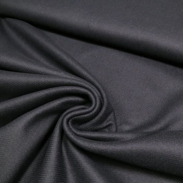 Wollstoff-Mix uni - nachtblau