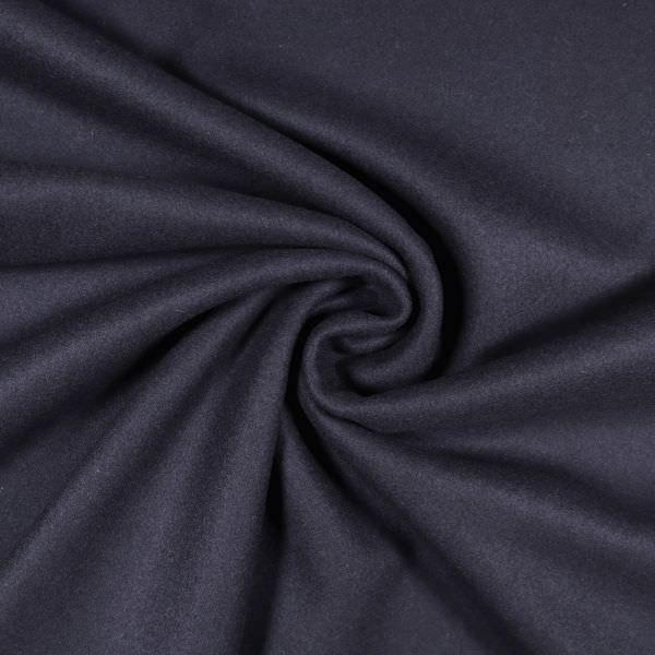 Kaschmir- Wollstoff uni - nachtblau