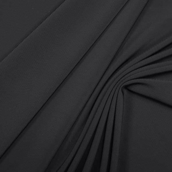 Stretch Hosen- und Kostümstoff mit Streifen - schwarz