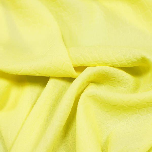 Crêpe Kroko-Prägedruck uni - gelb