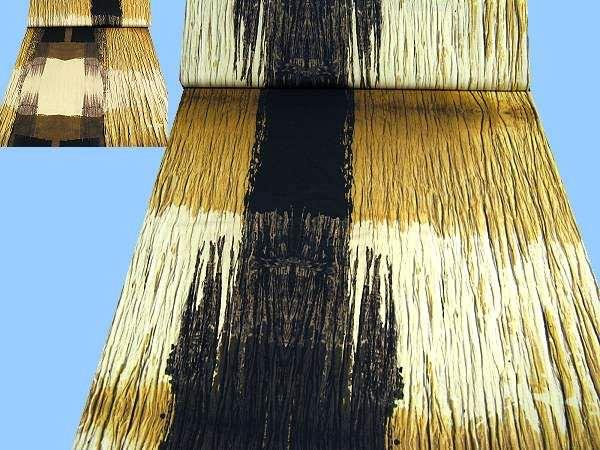 Feinjersey mit großem Muster - wollweiss/hellgelb/beige/braunbraun/schwarz