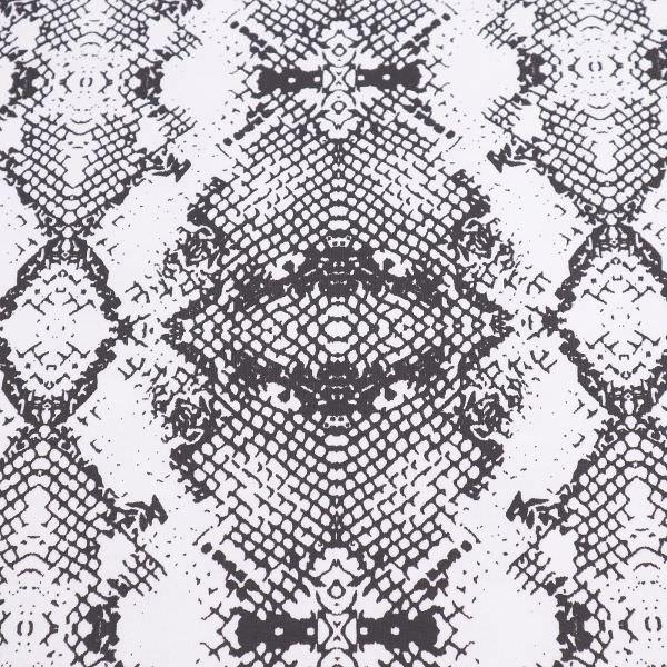 Sweatshirt Stoff mit Schlangenmuster - wollweiss/anthrazit