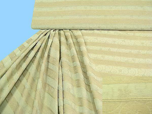 Blusen und Kleiderstoff - schilfgrün/beige