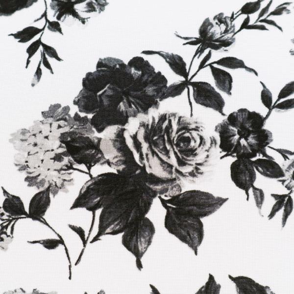 Viskose Slinky-Jersey Rosen - wollweiss/hellgrau/schwarz