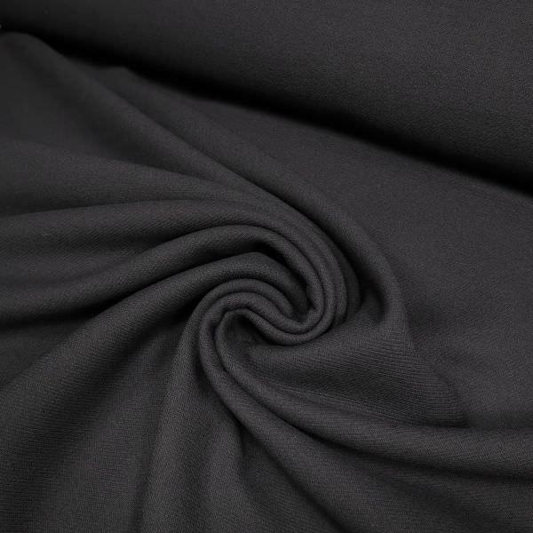 Wollstoff-Mix mit Köperbindung - schwarz