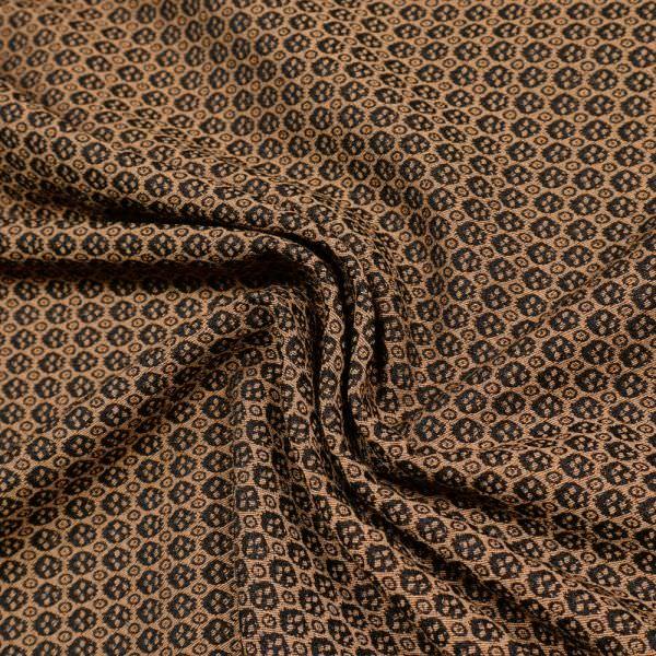 Jacquard kleines Muster - rostbraun/schwarz