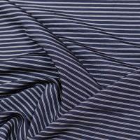 Slinky-Jersey Streifen - nachtblau/weiss