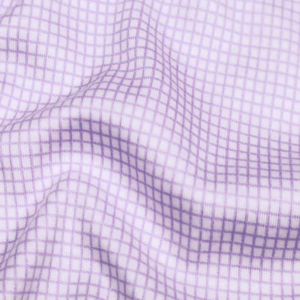"""Baumwoll-Modal Jersey """"kleines Karo-Muster"""" - flieder/weiss"""
