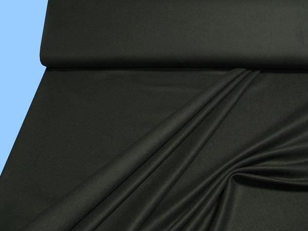 Wollstoff (Mischung) - schwarz