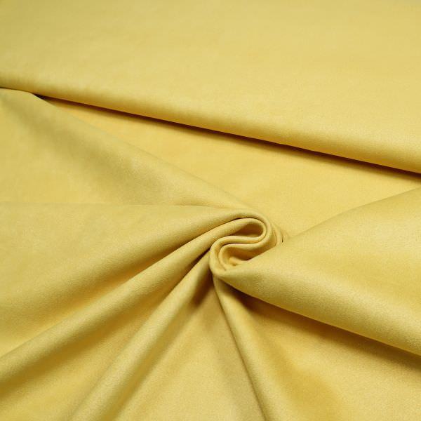 Wildleder-Imitat uni - gelb