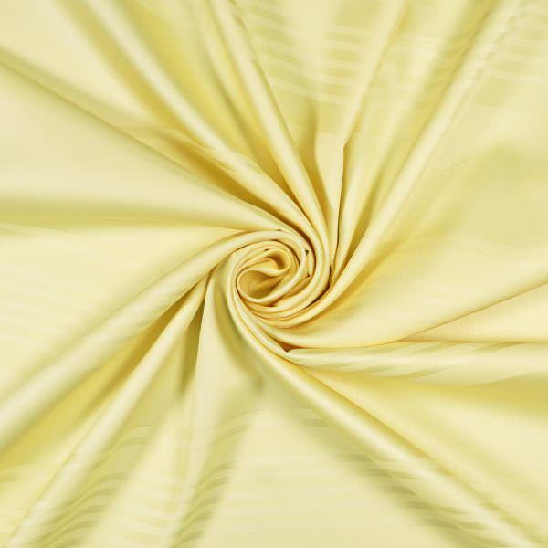 Baumwoll- Satin mit Querstreifen - hellgelb (Nur 75cm/breit !)